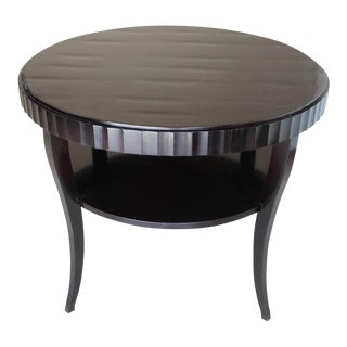 Beautiful Barbara Barry for Baker Mahogany Round Table For Sale