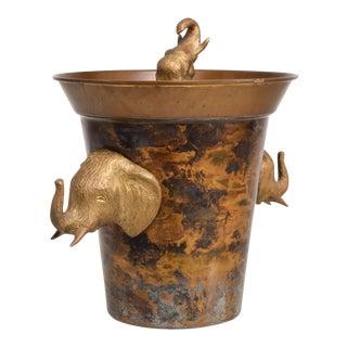 Hollywood Regency Elephant Ice Bucket For Sale