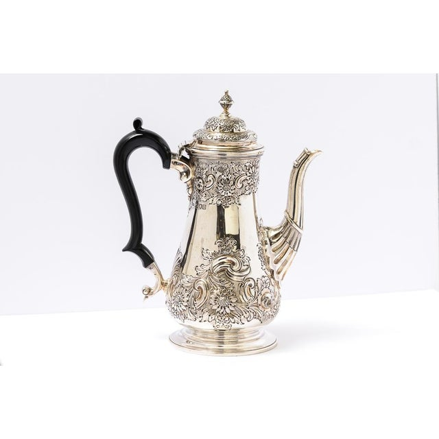 English Antique English Sheffield Coffee Pot For Sale - Image 3 of 9