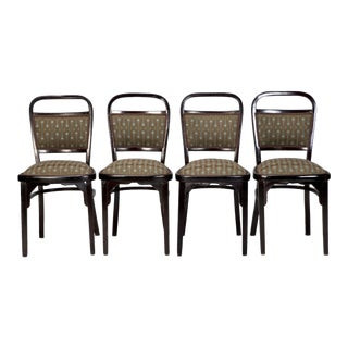 Circa 1906 Otto Wagner Walnut Chairs - A Pair For Sale