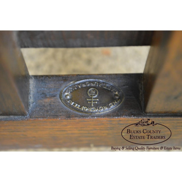 """Roycroft """"The Roycrofters"""" Arts & Crafts Mission Oak Little Journeys Book Stand For Sale - Image 11 of 13"""