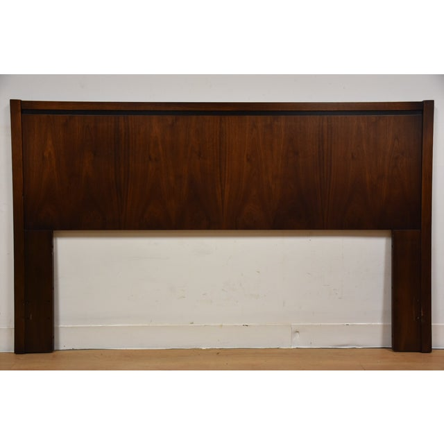 Mid-Century Modern Queen Size Walnut Headboard - Image 2 of 7