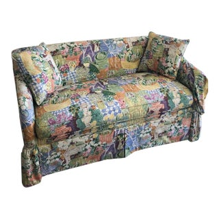Pearson Floral and Garden Print Custom Love Seat For Sale