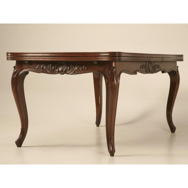 Antique Italian Louis XV Oak & Walnut Draw-Leaf Table - Image 2 of 10