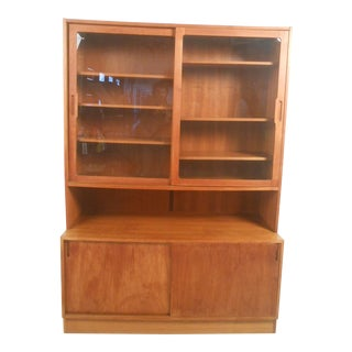 Mid-Century Modern Danish Teak Curio Cabinet For Sale
