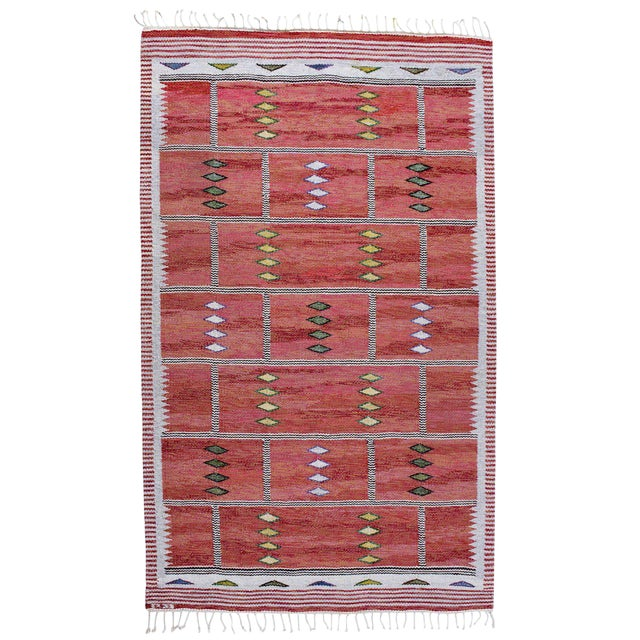 Vintage Carl Dagel Flat-Weave Swedish Carpet - Image 1 of 8