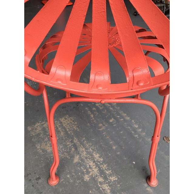 Persimmon Francois Carré Sunburst Patio Furniture For Sale - Image 8 of 13