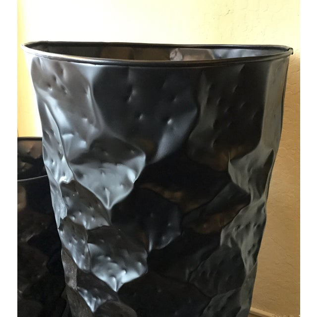 Large Black Chisel Planter - Image 3 of 4