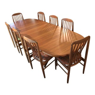 Mid-Certury Solid Teak Dining Set For Sale