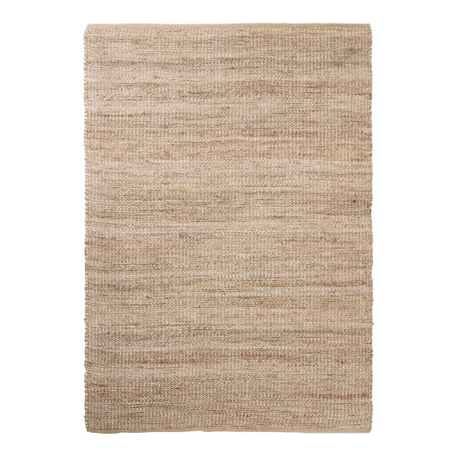 Silver Lurex Natural Weave Area Rug - 5′ × 7′ - Image 1 of 3