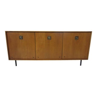 Mid-Century Modern Maple Credenza Server / Sideboard For Sale