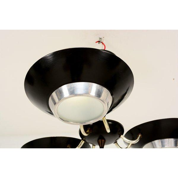Mid-Century Modern Mid-Century Flush Mount Ceiling Fixture For Sale - Image 3 of 9