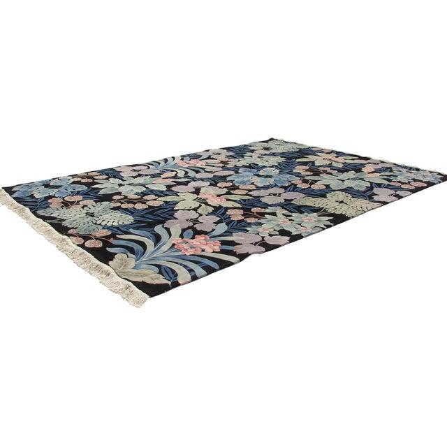 Black Vintage Jungle Carpet - 10' X 14' For Sale - Image 8 of 12