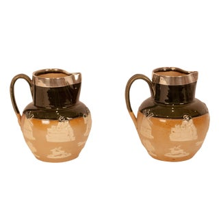 Pair of Royal Doulton Pitchers, England Circa 1900 For Sale