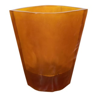 1990s Large Amber Resin Umbrella Stand For Sale