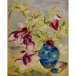 Purple Orchids Still Life Painting For Sale