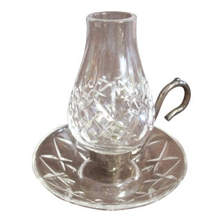 1960s Traditional Waterford Crystal Candlestick For Sale