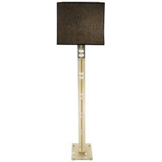 Elegant Glass Floor Lamp For Sale