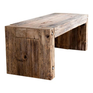 Reclaimed Wood Parsons Coffee Table Bench