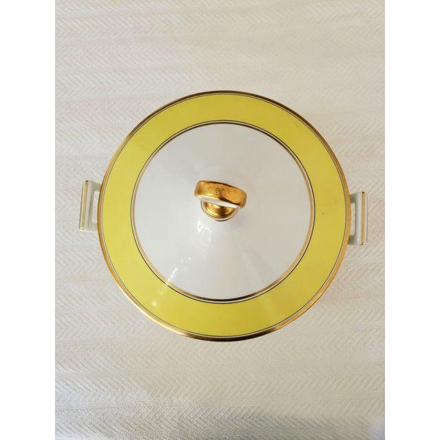 Yellow Italian Richard Ginori Yellow Tureen For Sale - Image 8 of 9