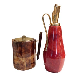 An Ice Bucket and Jug by Aldo Tura, Italy 1950