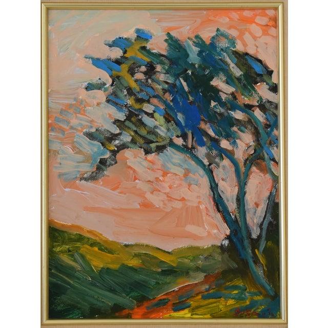 "Ojai, California oil painting on canvas by California artist Juan ""Pepe"" Guzman-Maldonado (b.1948 Chile). Known for his..."