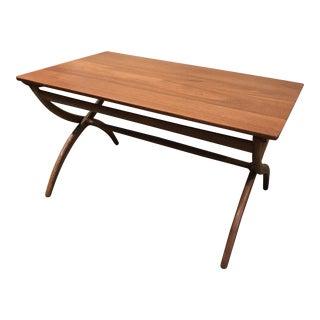 Ole Wanschner Adjustable Teak Table Danish Modern For Sale