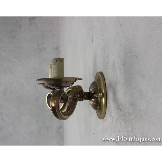 Pair of French Gilt Bronze Sconces - Image 3 of 11