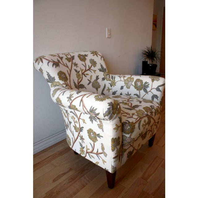Custom Floral Chair - Image 2 of 5