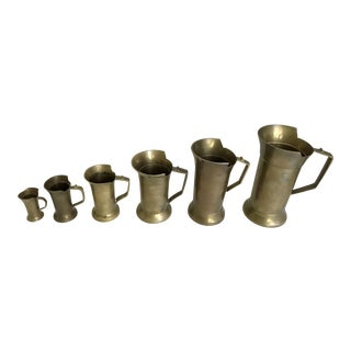 Descending Brass Handled Cups - Set of 6