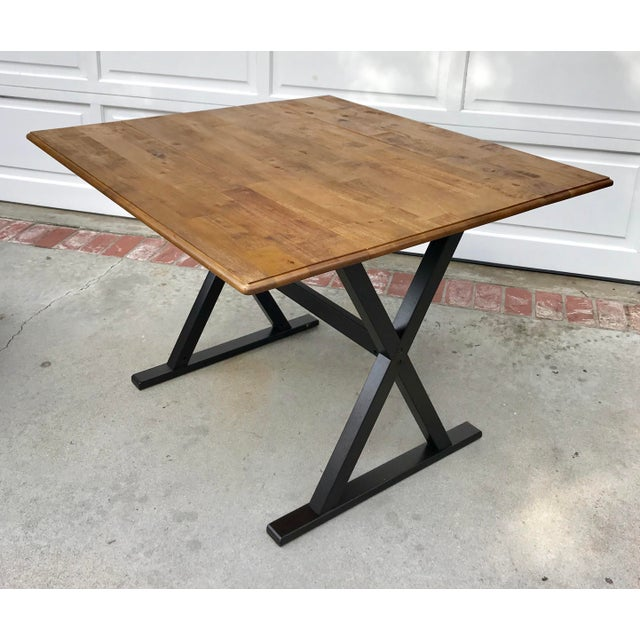Drop Leaf X Base Table - Image 2 of 5