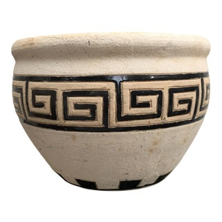 Greek Key Pottery Planter