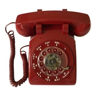 Vintage Western Electric Ruby Red Rotary Dial Phone For Sale