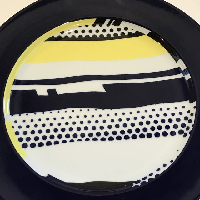 1990s Roy Lichtenstein for Rosenthal Porcelain Limited Edition Wall Plate For Sale - Image 5 of 7
