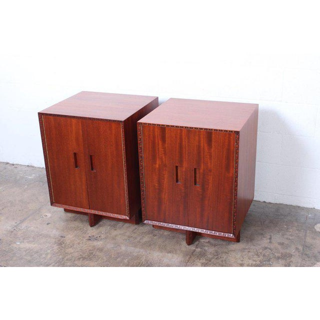 """Frank Lloyd Wright """"Taliesin"""" Nightstands for Henredon For Sale - Image 11 of 11"""