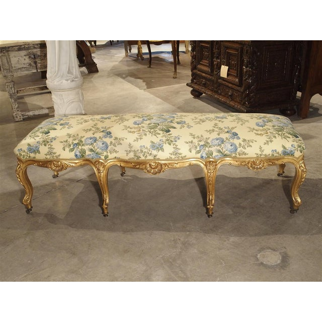 French Antique Giltwood Regence Style Banquette From France, 19th Century For Sale - Image 3 of 13