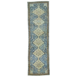 1920s Mid-Century Modern Persian Malayer Gray and Navy Wool Rug