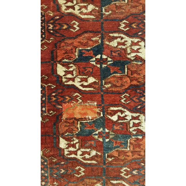Large Scale Ottoman Upholstered With a Vintage Rug Textile For Sale - Image 4 of 13
