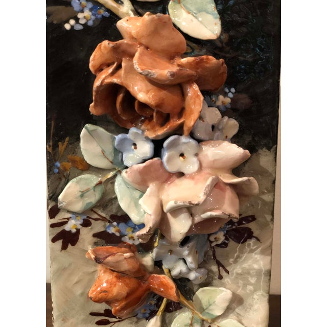 Edouard Gilles French Barbotine Majolica Vase For Sale In Dallas - Image 6 of 9