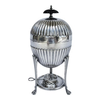C.1910-30s English Walker & Hall Silversmith's Silver Plate Domed Egg Coddler Server - 4 Pieces For Sale