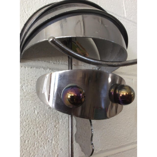 Brass Vintage Iron & Steel Atomic Robot Wall Sculpture For Sale - Image 7 of 9