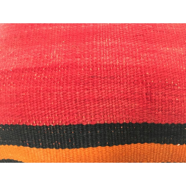 Black Moroccan Berber Handwoven Tribal Vintage Pillow For Sale - Image 8 of 9