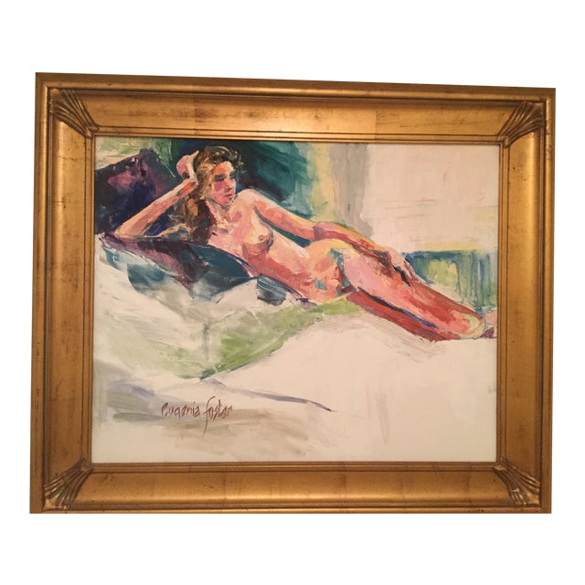 Eugenia Foster Reclining Nude Oil Painting For Sale