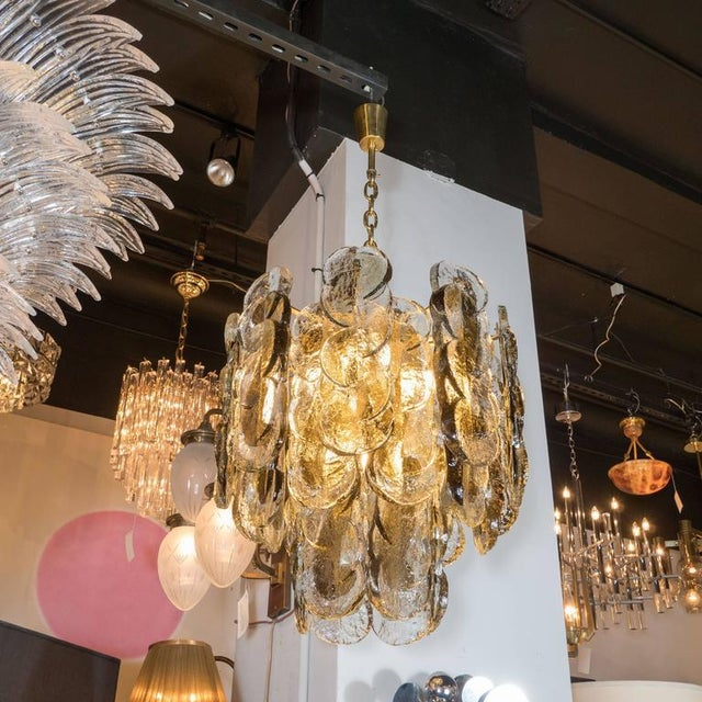 Seguso Murano Glass Chandelier Designed by J.T. Kalmar of Austria, Fabricated by Seguso For Sale - Image 4 of 9