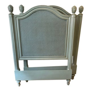 Frenchtown Cane and Wood Twin Headboards by Somerset Bay - a Pair For Sale