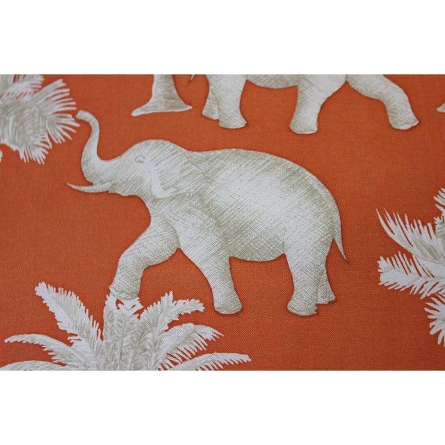 Traditional Jim Thompson Orange Thai Elephant Pillow For Sale - Image 3 of 6