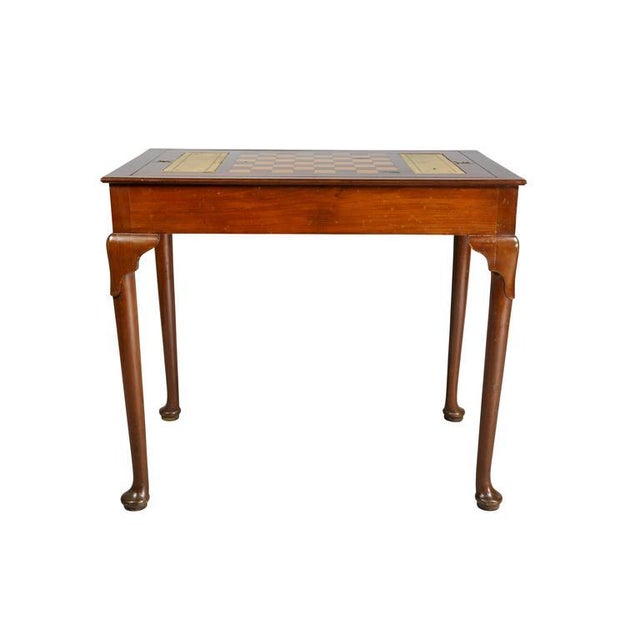 Queen Anne Style Mahogany Games Table For Sale - Image 9 of 10