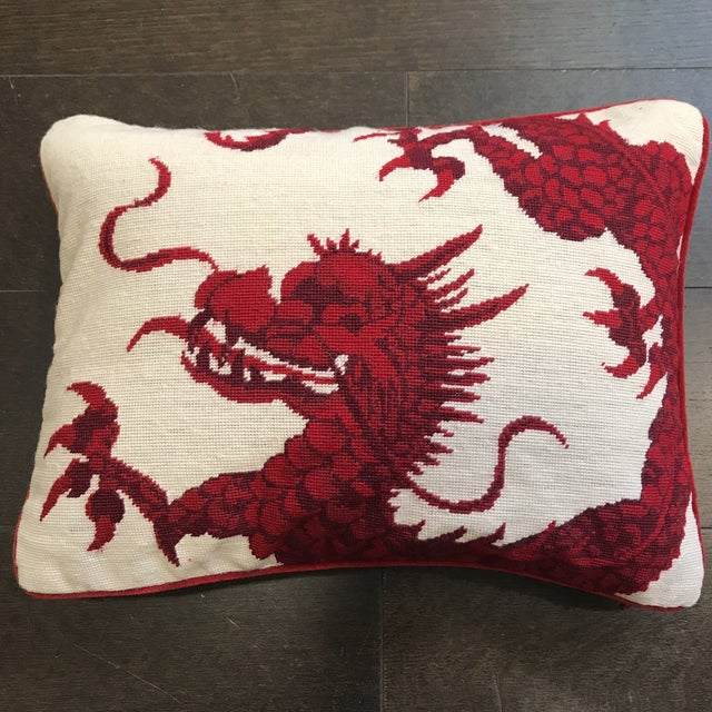 Williams Sonoma Dragon Needlepoint Pillow - Image 6 of 6