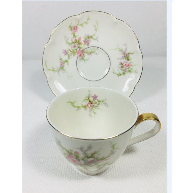 1930s 1930s Haviland Rosalinde Demistasse Cups and Saucers Set of 14 For Sale - Image 5 of 12