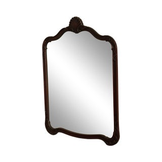 French Louis XV Style Vintage 1930's Carved Mahogany Frame Mirror For Sale